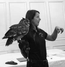 Bird Lady at Fowey Hall Hotel