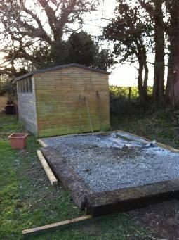 shed base ready