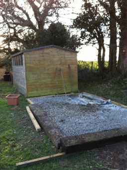 shed base ready