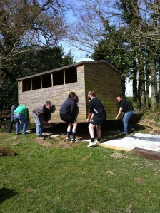 Shed on the move