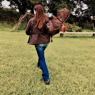 Bird Lady of Fowey and Isie the Redtail